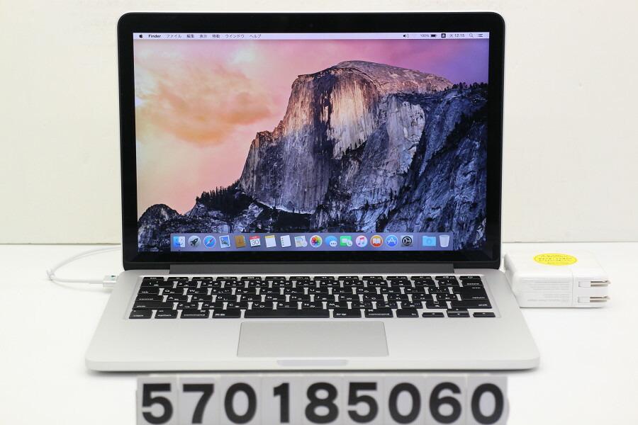 Apple MacBook Pro Retina Early 2015 Core i5 5257U 2.7G/8G/128G(SSD)/13.3W/WQXGA【中古】【20181031】
