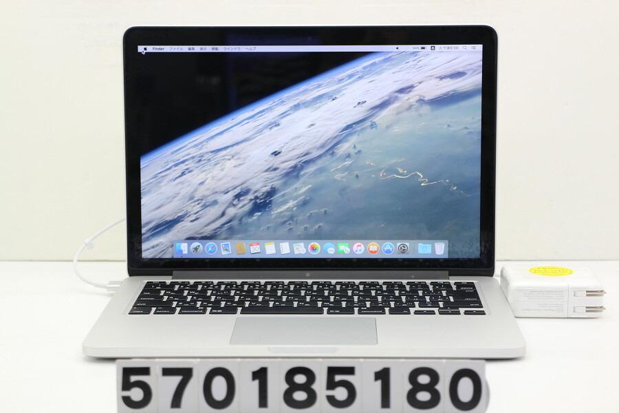 Apple MacBook Pro Retina Mid 2014 Core i5 4278U 2.6GHz/8G/128G(SSD)/13.3W/WQXGA【中古】【20181101】
