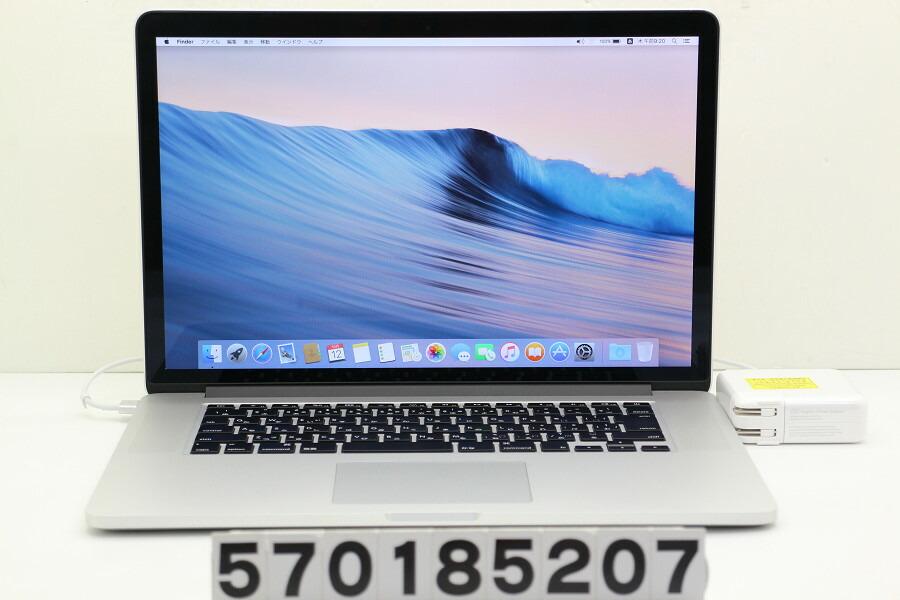 Apple MacBook Pro Retina Late 2013 Core i7 4850HQ 2.3GHz/8GB/256GB(SSD)【中古】【20181106】