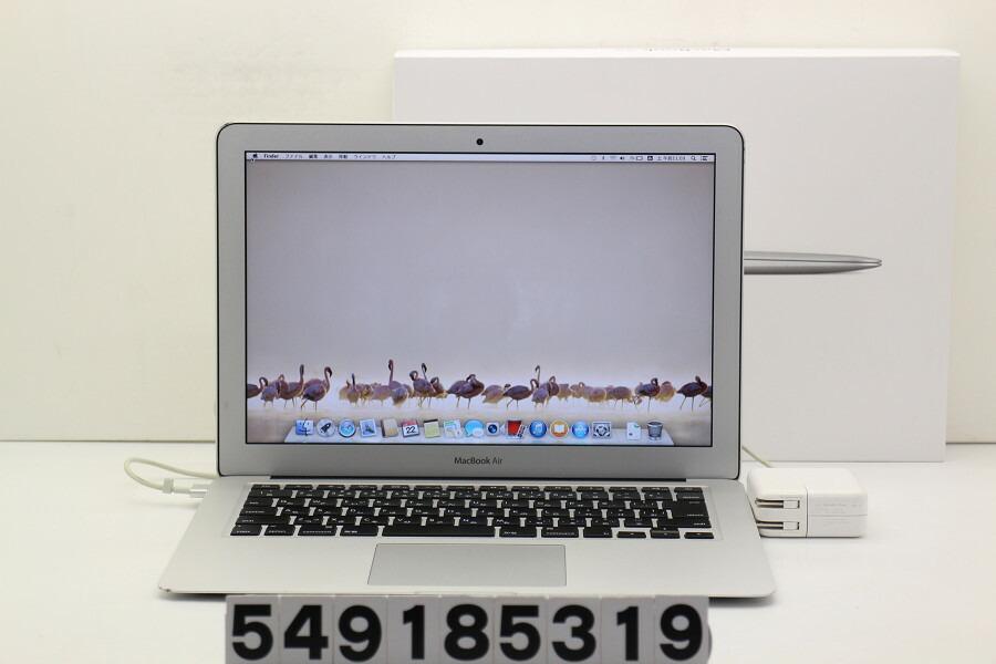 Apple MacBook Air Mid 2013 Core i7 4650U 1.7GHz/8GB/256GB(SSD)/13.3W/WXGA+【中古】【20181124】