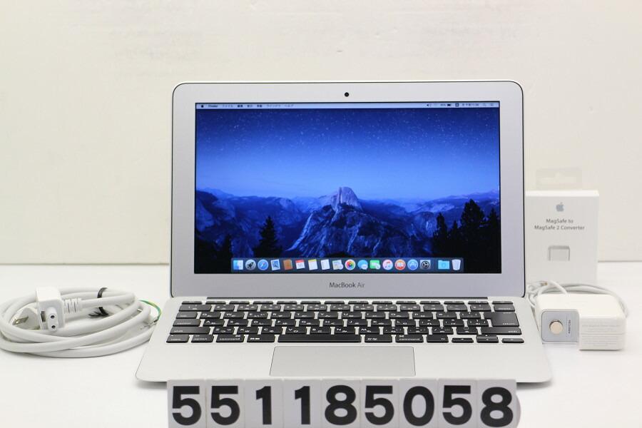 Apple MacBook Air Mid 2013 Core i5 4260U 1.4GHz/8GB/256GB(SSD)/11.6W/FWXGA【中古】【20181124】
