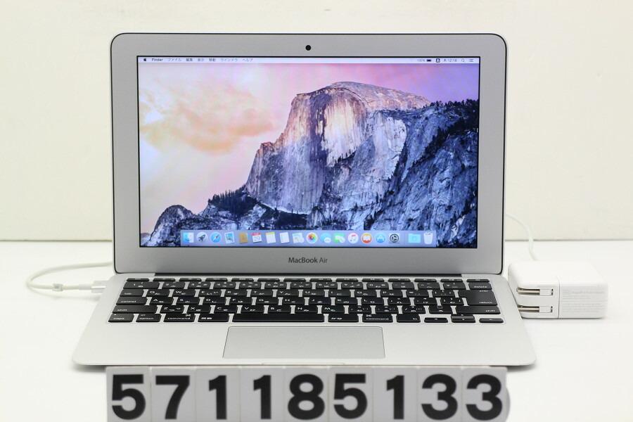 Apple MacBook Air Early 2015 Core i5 5250U 1.6GHz/8GB/256GB(SSD)/11.6W/FWXGA【中古】【20181130】