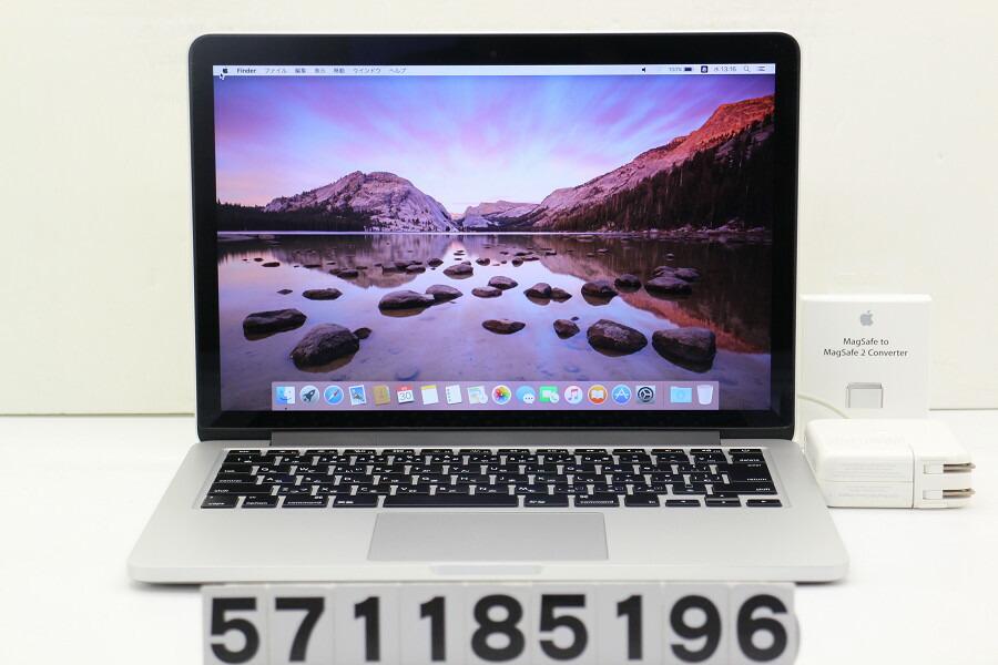 Apple MacBook Pro Retina Mid 2014 Core i5 4278U 2.6GHz/8G/256G(SSD)/13.3W/WQXGA【中古】【20181207】