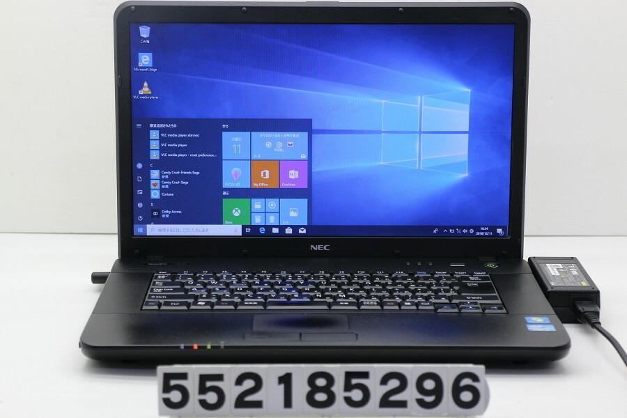 NEC PC-VK22LAZCD Core i3 2330M 2.2GHz/2GB/250GB/DVD/15.6W/FWXGA/Win10【中古】【20181212】