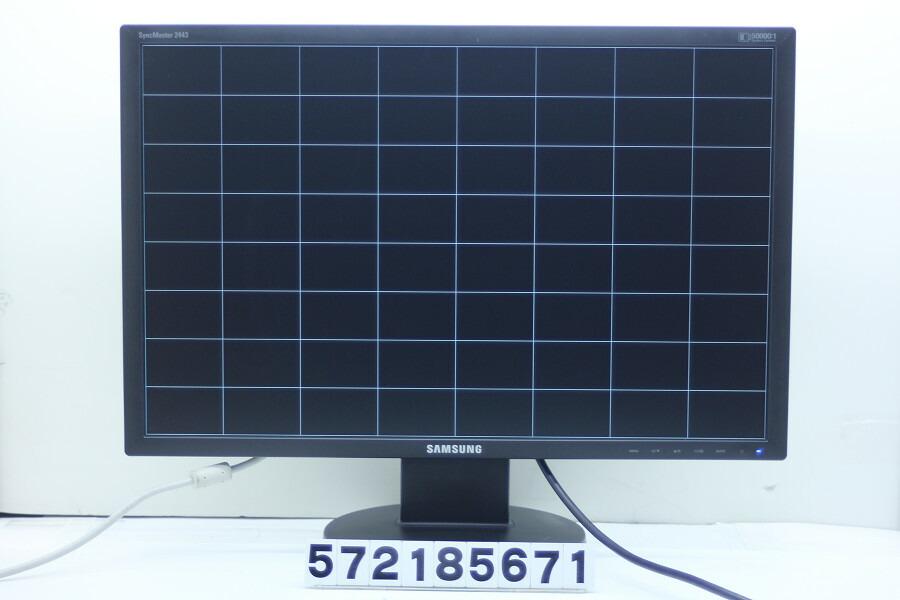SAMSUNG SyncMaster 2443BWPLUS 24インチワイドWUXGA液晶モニター D-Sub×1/DVI-D×1【中古】【20190104】