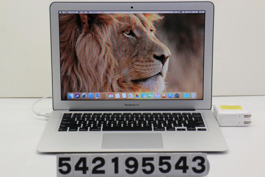 Apple MacBook Air Early 2014 Core i7 4650U 1.7GHz/8GB/256GB(SSD)/13.3W/WXGA+【中古】【20190215】