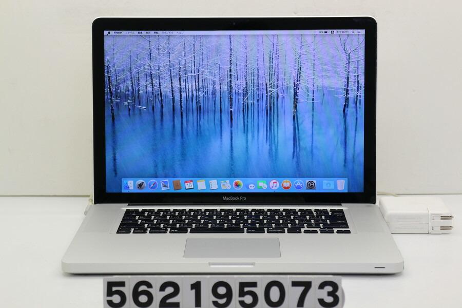 Apple MacBook Pro Late 2011 Core i7 2675QM 2.2GHz/4GB/1TB/Multi/15.4W/WXGA+【中古】【20190218】