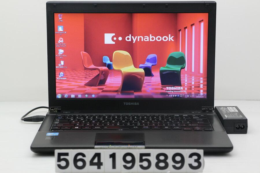 東芝 dynabook R742/H Core i5 3340M 2.7GHz/4GB/320GB/Multi/14W/FWXGA/Win7【中古】【20190424】