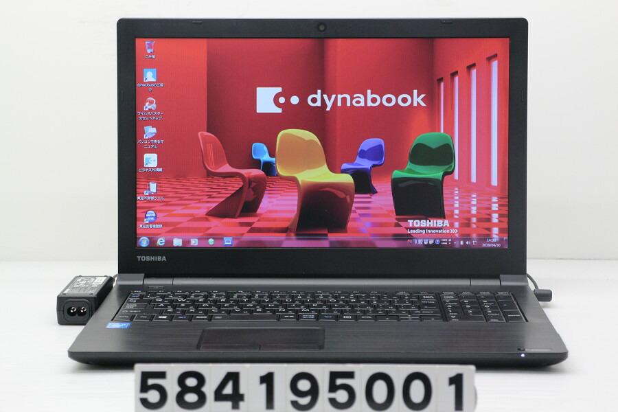 東芝 dynabook B35/R Celeron 3205U 1.5GHz/4GB/500GB/DVD/15.6W/FWXGA/Win7【中古】【20190501】