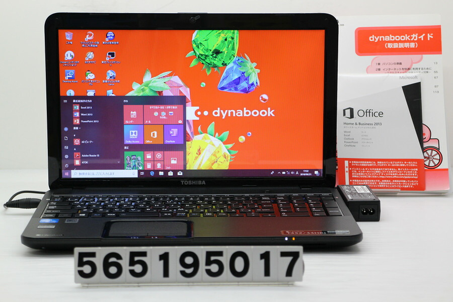 東芝 dynabook T452/33HBJ Celeron 847 1.1GHz/8GB/500GB/Multi/15.6W/FWXGA/Win10【中古】【20190522】