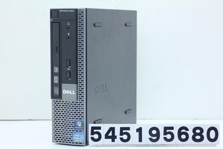 DELL OptiPlex 9010 USFF Core i5 3570S 3.1GHz/8GB/500GB/Multi/RS232C/Win10【中古】【20190525】