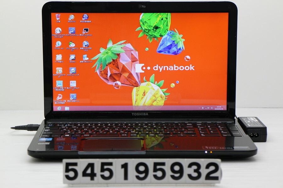 東芝 dynabook T552/36HBJ Core i3 3120M 2.5GHz/4G/750G/Blu-ray/15.6W/FWXGA/Win8【中古】【20190611】