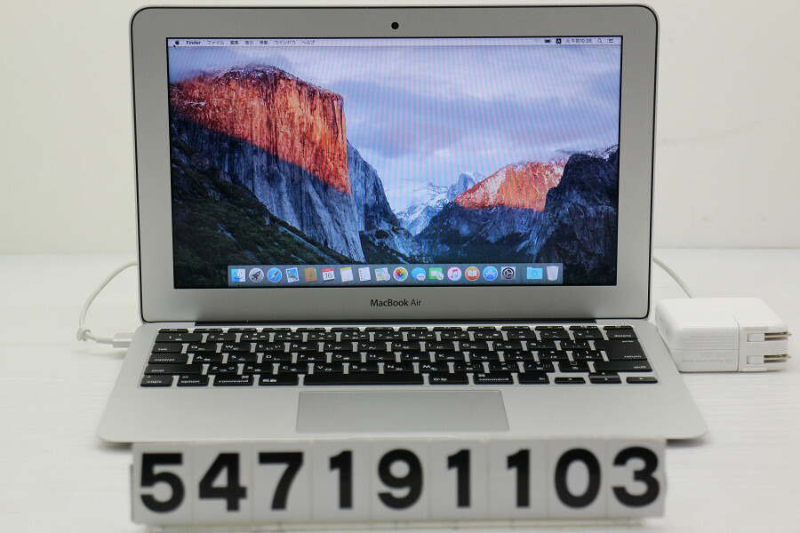 Apple MacBook Air Early 2014 Core i5 4260U 1.4GHz/4GB/256GB(SSD)/11.6W/FWXGA【中古】【20190717】