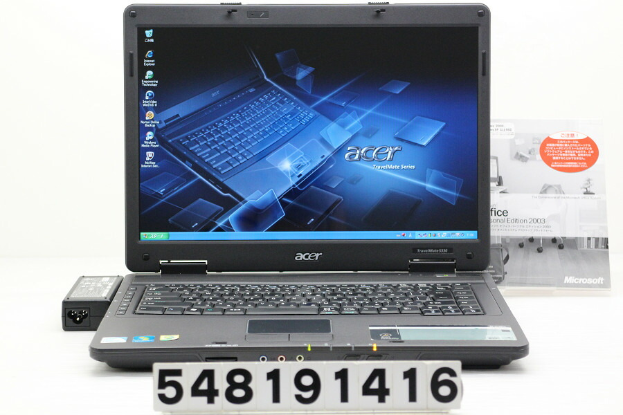 acer TravelMate 5330 Celeron 900 2.2GHz/2GB/160GB/Multi/15.4W/WXGA/XP【中古】【20190831】
