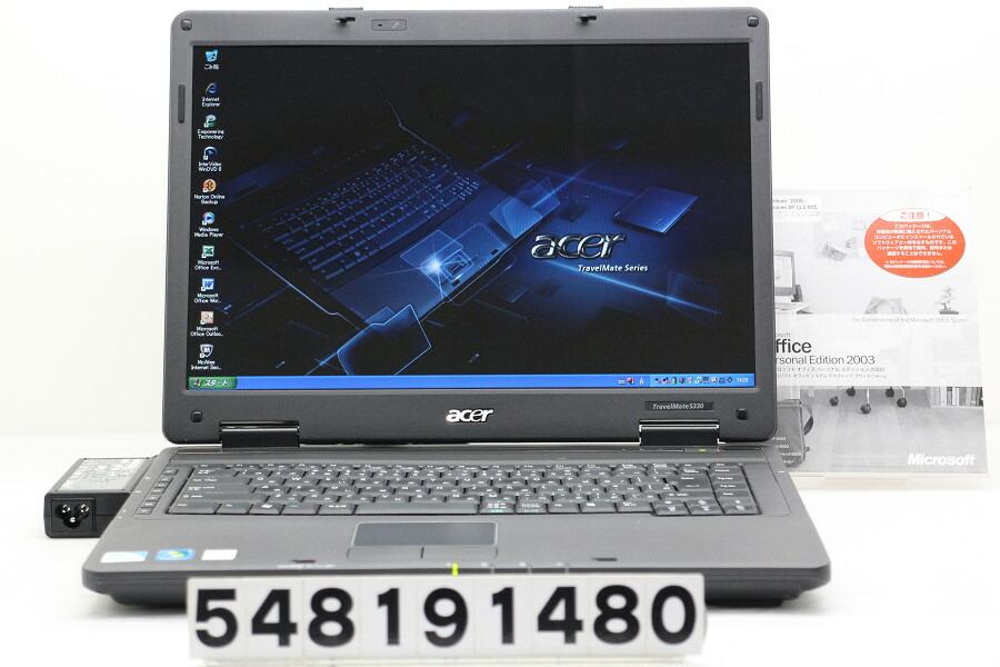 acer TravelMate 5330 Celeron 900 2.2GHz/2GB/160GB/Multi/15.4W/WXGA/XP【中古】【20190904】