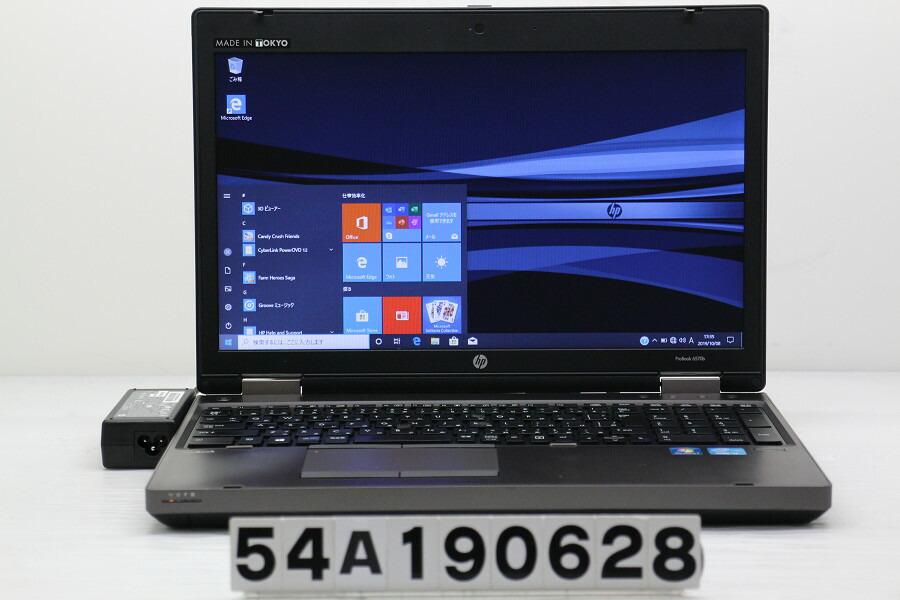 hp ProBook 6570b Core i3 3120M 2.5GHz/4G/256G(SSD)/DVD/15.6W/FWXGA/RS232C/Win10【中古】【20191010】