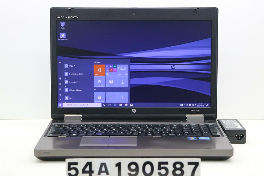 hp ProBook 6570b Core i3 3110M 2.4GHz/4G/128G(SSD)/DVD/15.6W/FWXGA/RS232C/Win10【中古】【20191010】
