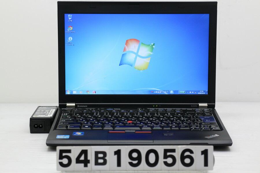 Lenovo ThinkPad X220i Core i3 2350M 2.3GHz/2GB/320GB/12.5W/FWXGA/Win7【中古】【20191114】