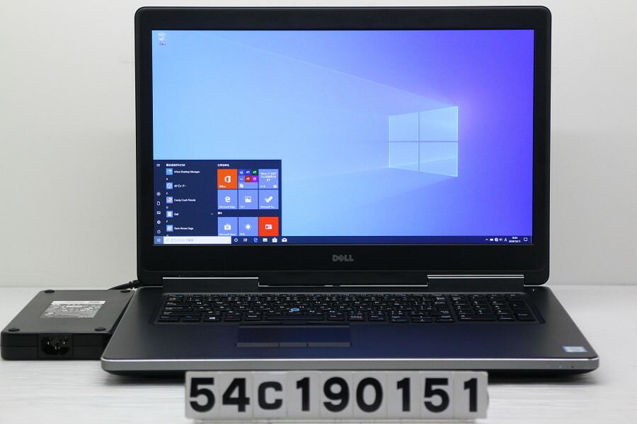 DELL Precision 7710 Xeon E3-1535M v5 2.9GHz/64G/2T/17.3W/FHD/Win10/QuadroM4000M【中古】【20191212】