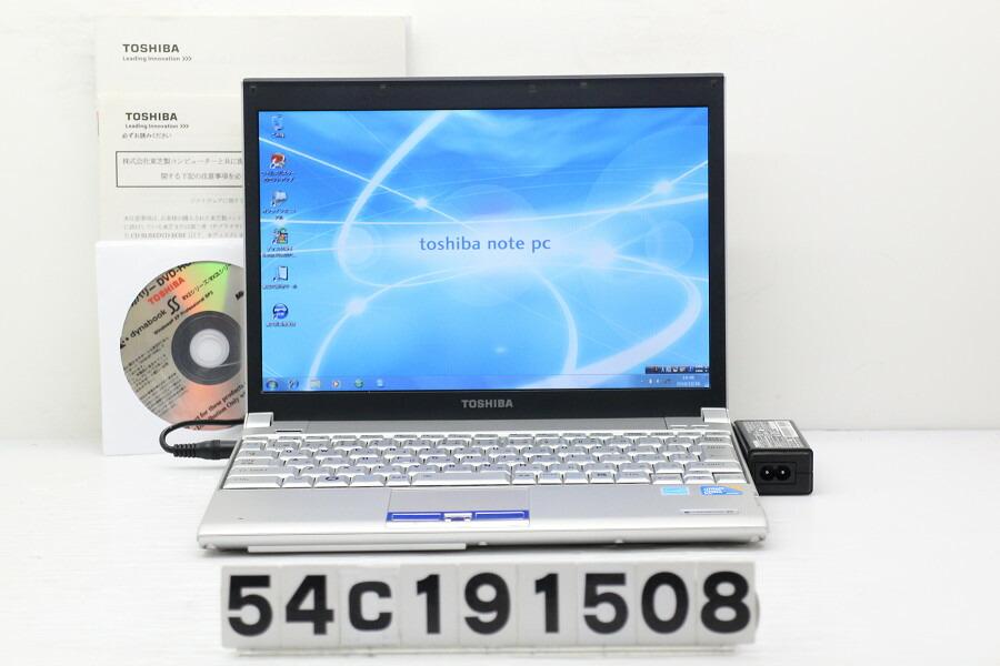 東芝 dynabook SS RX2L SL140E/2W C2D U9400 1.4GHz/4GB/160GB/12.1W/WXGA/Win7【中古】【20191217】