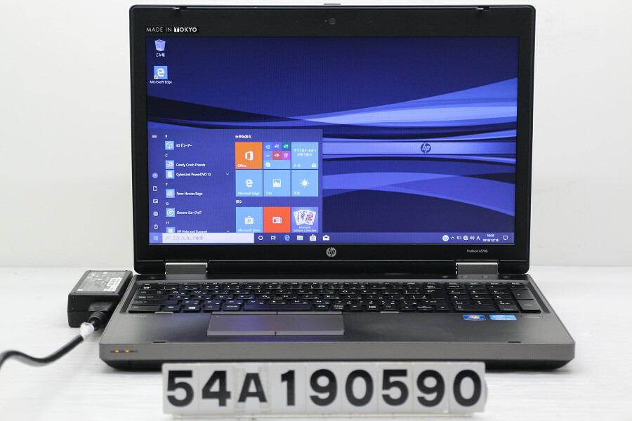 hp ProBook 6570b Core i3 3110M 2.4GHz/4G/128G(SSD)/DVD/15.6W/FWXGA/RS232C/Win10【中古】【20191219】