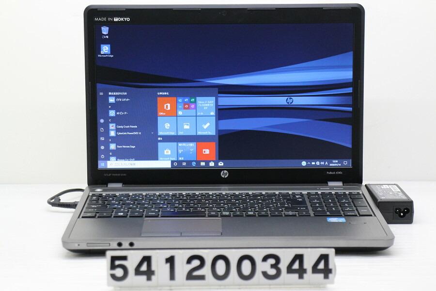 hp ProBook 4540s Core i5 3230M 2.6GHz/4G/256G(SSD)/Multi/15.6W/FWXGA/Win10【中古】【20200115】