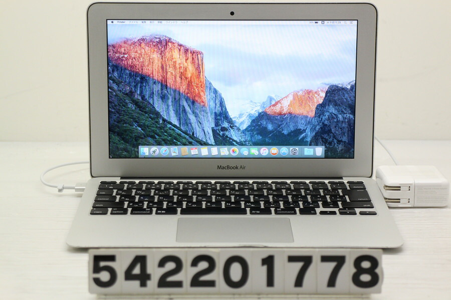 Apple MacBook Air Mid 2013 Core i5 4250U 1.3GHz/4G/256G(SSD)/11.6W/FWXGA【中古】【20200220】