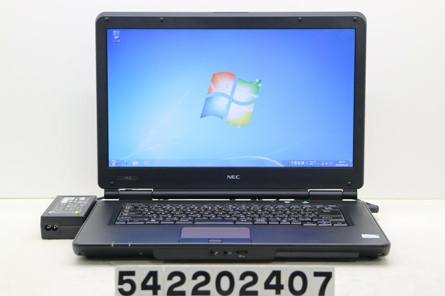 NEC PC-VY18LXZ7A Celeron P4500 1.87GHz/2G/500G/DVD/15.6W/FWXGA/Win7【中古】【20200226】
