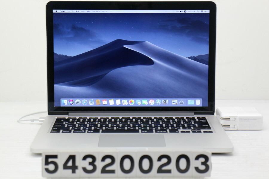 Apple MacBook Pro Retina Mid 2014 Core i5 4278U 2.6GHz/16G/480G(SSD)/13.3W【中古】【20200306】