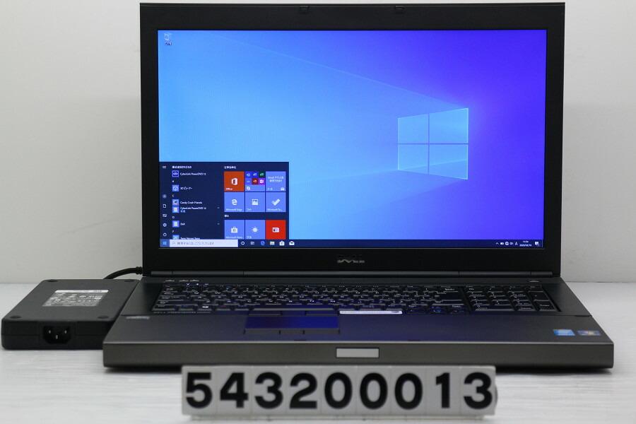 DELL Precision M6800 Core i7 4940MX 3.1GHz/32G/256G(SSD)+1T/Multi/Win10/K5100M【中古】【20200311】