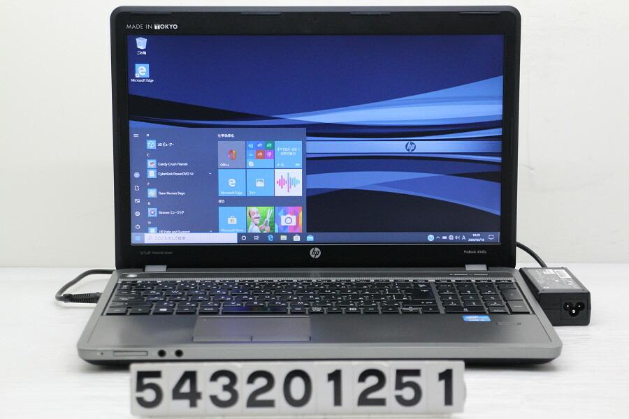 hp ProBook 4540s Core i5 3210M 2.5G/4G/240G(SSD)/Multi/15.6W/FWXGA/Win10【中古】【20200321】