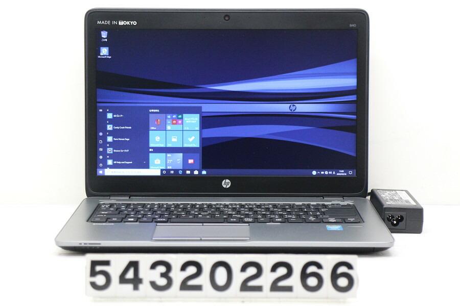 hp EliteBook 840 G1 Core i5 4200U 1.6G/4G/256G(SSD)/14W/WXGA++/Win10【中古】【20200321】