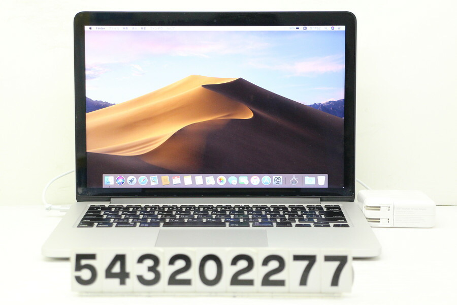 Apple MacBook Pro Retina Mid 2014 Core i5 4278U 2.6G/16G/480G(SSD)/13.3W/WQXGA【中古】【20200321】