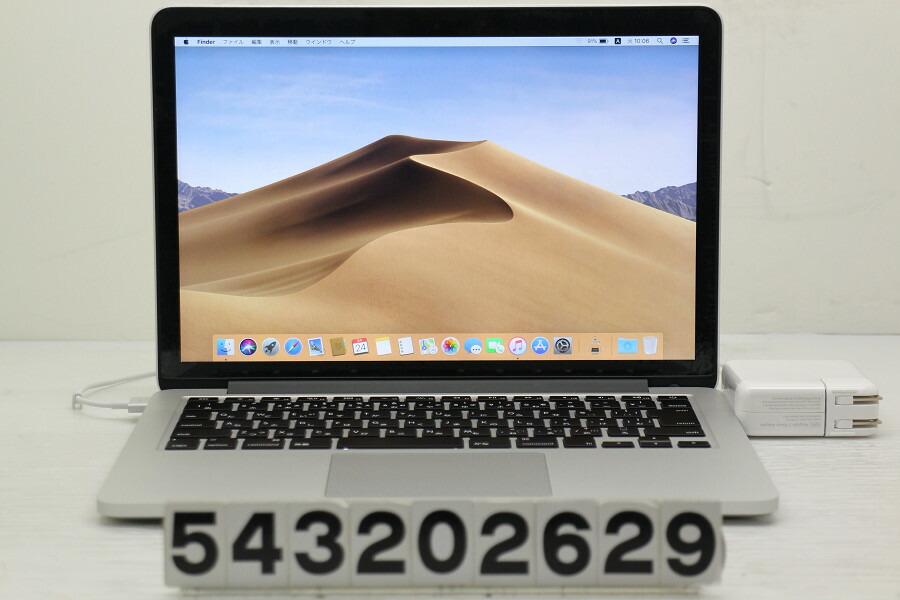 Apple MacBook Pro Retina Mid 2014 Core i5 4278U 2.6G/16G/480G(SSD)/13.3W/WQXGA【中古】【20200326】
