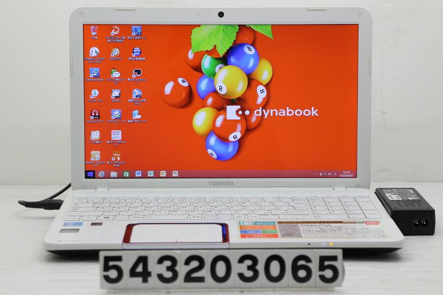 東芝 dynabook T552/47GWS Core i7 3630QM 2.4G/8G/750G/Blu-ray/15.6W/FWXGA/Win8.1【中古】【20200404】