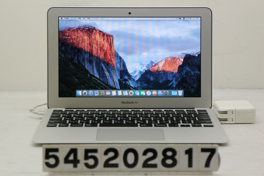 Apple MacBook Air Mid 2013 MD711J/A Core i5 4250U 1.3G/4G/128G(SSD)/11.6W/FWXGA【中古】【20200527】