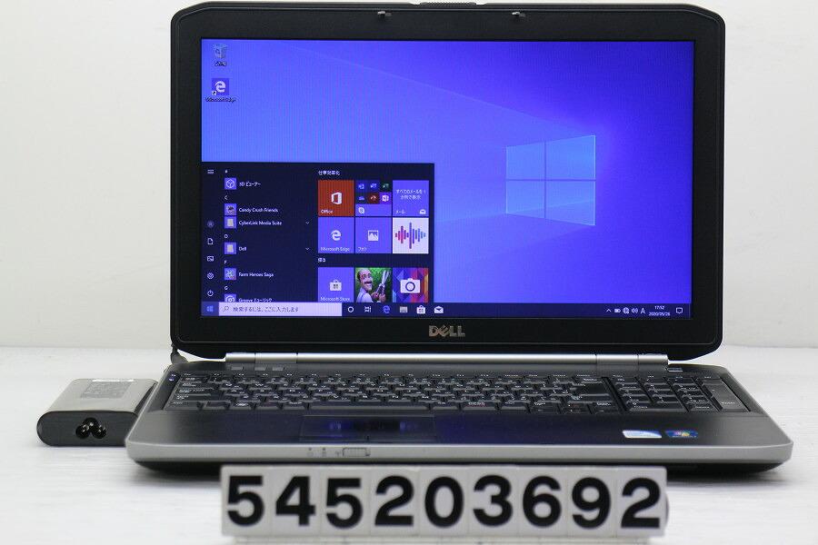 DELL Latitude E5520 Celeron B840 1.9G/4G/250G/Multi/15.6W/FWXGA/Win10【中古】【20200527】