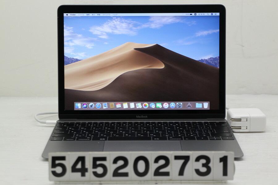 Apple MacBook Retina A1534 Mid 2017 Core m3 7Y32 1.1G/8G/256G(SSD)/12W/【中古】【20200530】