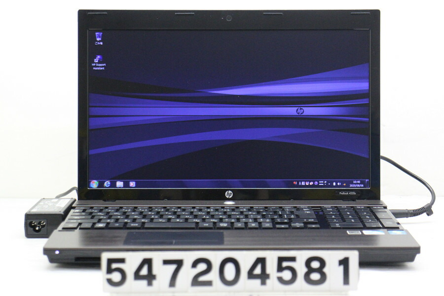 hp ProBook 4520s Celeron P4600 2G/2G/250G/Multi/15.6W/FWXGA/Win7【中古】【20200808】