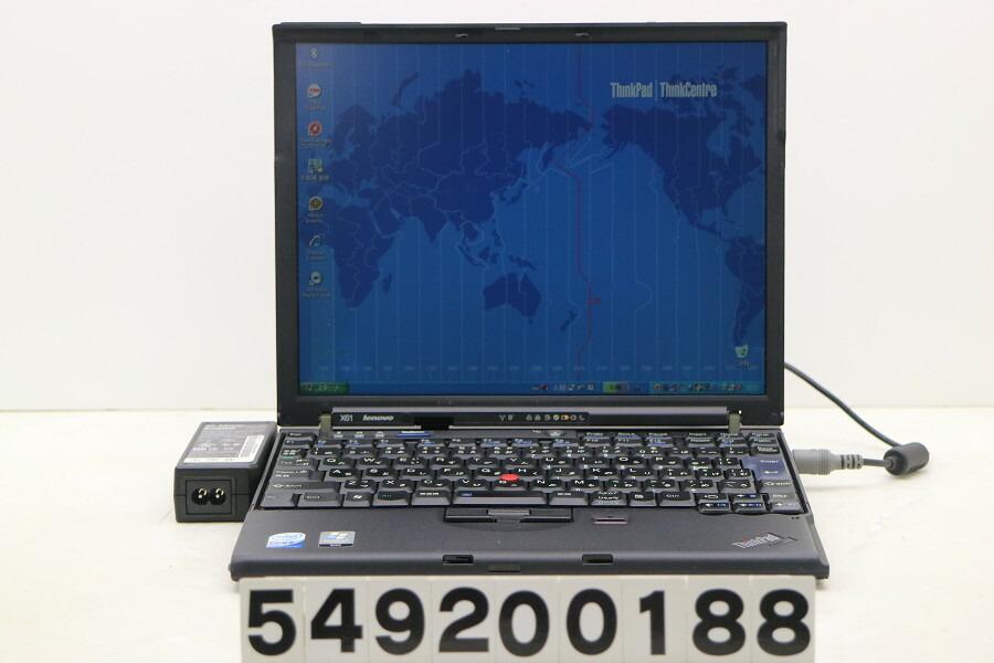 Lenovo ThinkPad X61 C2D T7100 1.8G/2G/160G/12.1/XGA/XP【中古】【20200924】