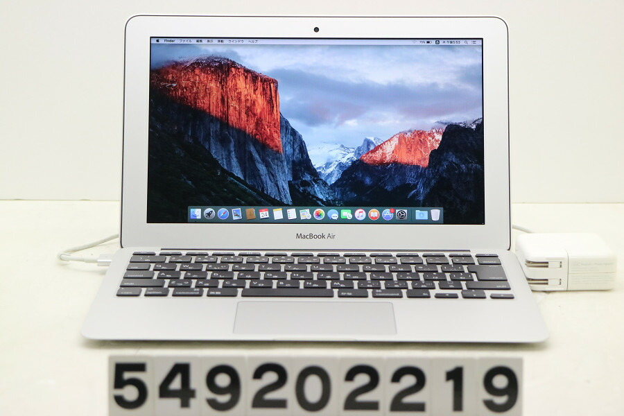 Apple Macbook Air A1465 Mid 2013 Core i5 4250U 1.3G/4G/128G(SSD)/11.6W/FWXGA【中古】【20200925】