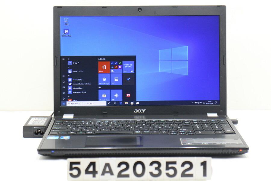 Acer TravelMate 5760 Core i3 2310M 2.1G/8G/256G(SSD)/Multi/15.6W/FWXGA/Win10【中古】【20201110】
