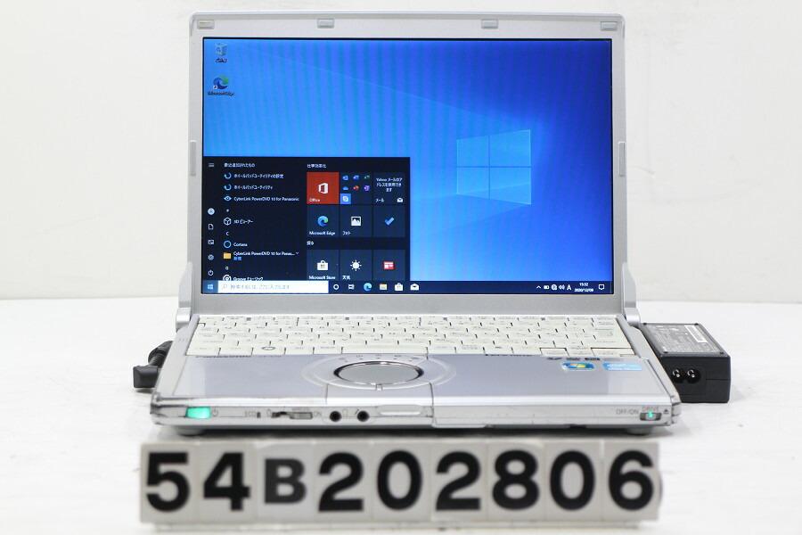 Panasonic CF-S10EWHDS Core i5 2540M 2.6G/4G/320G/Multi/12.1W/WXGA/Win10【中古】【20201211】