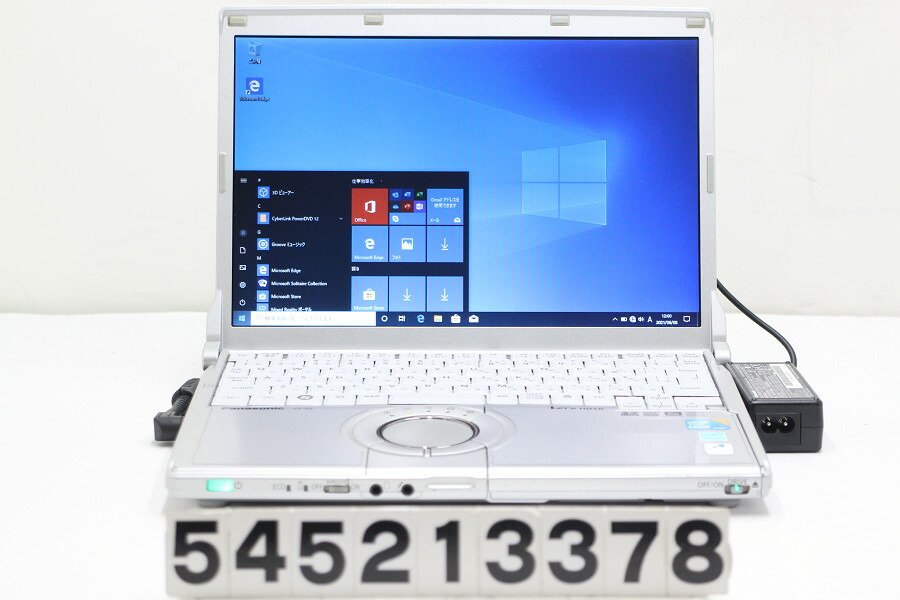 Panasonic CF-S9YYVCPS Core i3 330M 2.13G/4G/128G(SSD)/Multi/12.1W/WXGA/Win10【中古】【20210609】