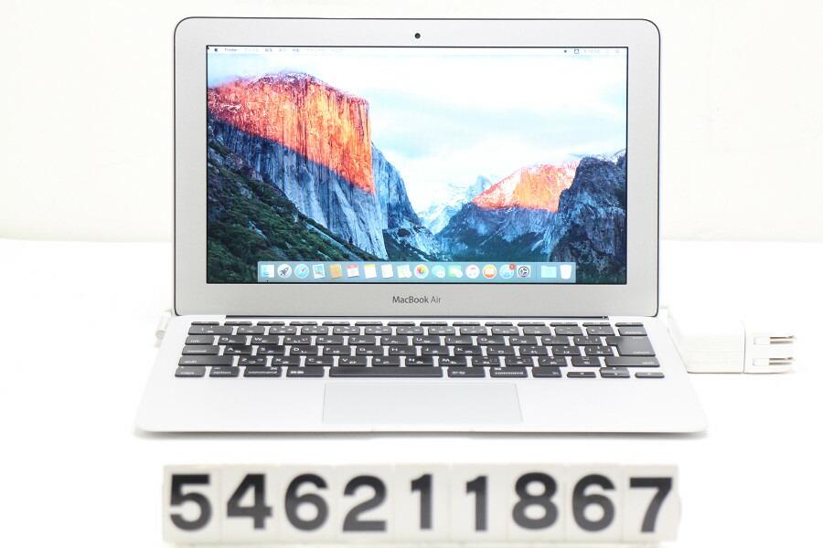 Apple MacBook Air A1370 Mid 2011 Core i5 2467M 1.6G/2G/64G(SSD)/11.6W/FWXGA【中古】【20210709】