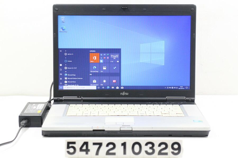 富士通 LIFEBOOK E780/A Core i5 M520 2.4G/4G/500G/Multi/15.6W/FWXGA/RS232C/Win10【中古】【20210716】