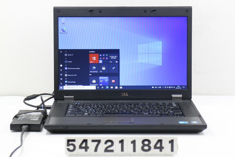 DELL Latitude E5510 Core i5 M560 2.67G/4G/128G(SSD)/15.6W/FWXGA/RS232C/Win10【中古】【20210720】
