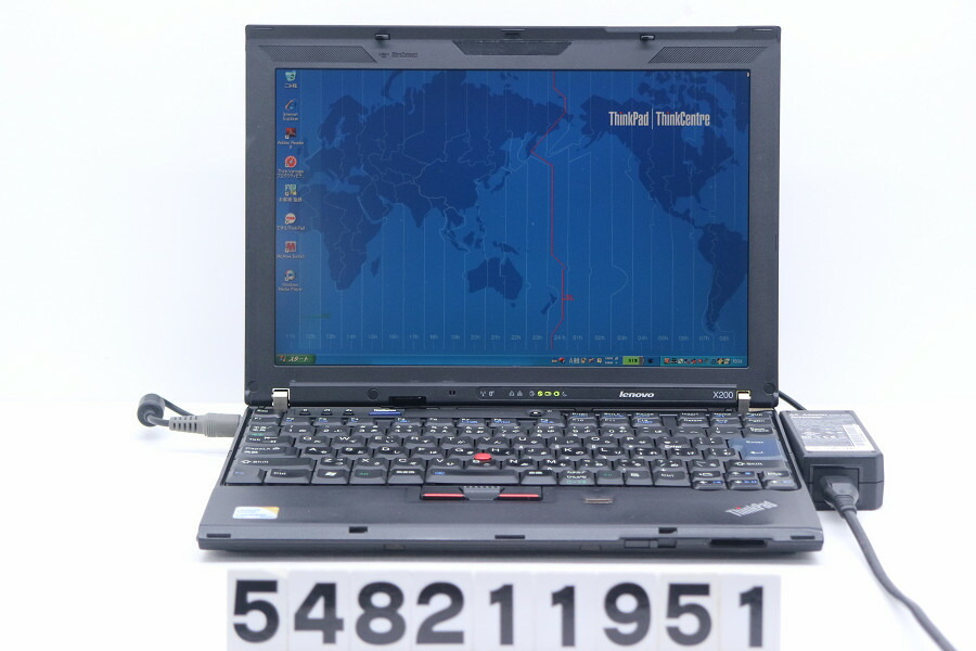 Lenovo ThinkPad X200 C2D P8700 2.53G/3G/320G/12.1W/WXGA/XP【中古】【20210821】