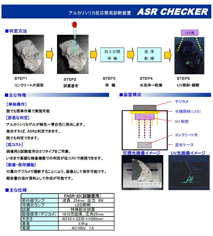 【送料無料】☆)FASR-20 アルカリシリカ反応(ASR)簡易診断装置 ゲルフルオレッセンヌ法によりASRを簡易診断!