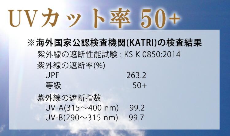 UVカット率 50+
